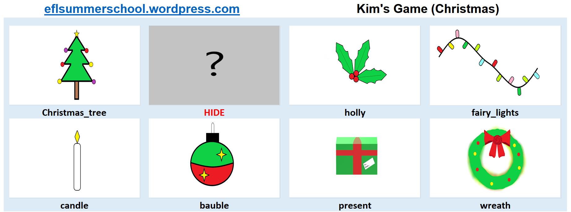 Kim's Game (Christmas) II