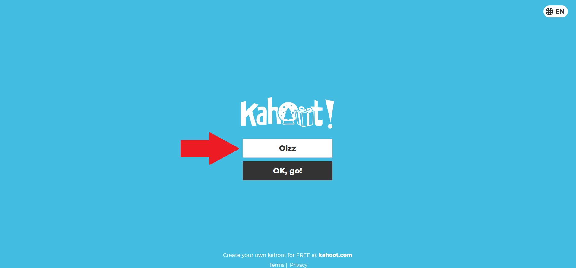 Kahoot.it nickname